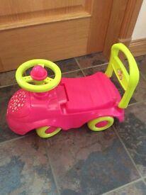 Push along buggy & Disney vacuum