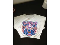 White Top neon tiger print size 12