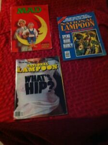 3  Vintage National Lampoon magazines.    Good reading condition
