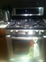 Stainless steel LG gas stove. Moving sale!