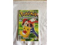 Pokemon comic - the electric tale of pikachu part 1 signed brand new very rare & collectible