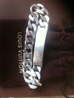 Louis Vuitton men's silver band