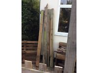 Solid wood posts garden