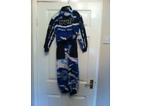 Wulf motor cross suit and gloves