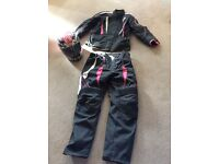 Motorbike clothes and helmet