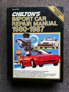 ***Chilton's Import Car Repair Manual 1980-1987 $10.00***