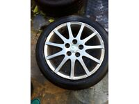 "Lexus is200 17"" 4x alloy wheel set facelift good tyres 98-05 breaking is 200 is300 sportcross"