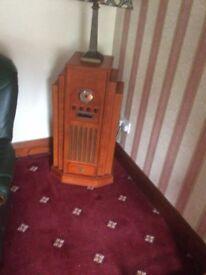 Vintage Art Deco style tall radio cds & cassette player