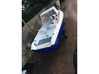 Boat Shetland 535 with braked trailer no outboard