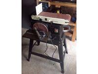 Belt and disc sander, Axminster AWEBDS610