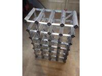Metal wine rack.