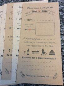 Wedding advice cards vintage