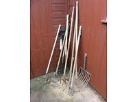 Used Old Garden Tools