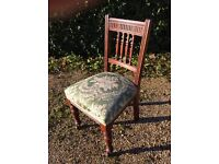 Edwardian chair on original castors, very solid and pretty.