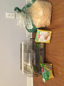 Cage pour hamster et accessoires