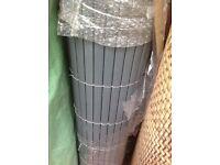 Grey artificial bamboo slat screening 4m long x 1m high