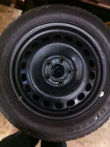205/55/16 ice blazer winter tires on steel rims