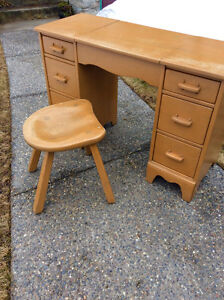 RARE 1930's Imperial Loyalist Vanity and Stool