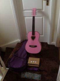 Candy Rox 3/4 size guitar & extras. VGC. PRICE REDUCED.