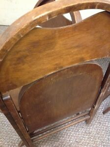 ANTIQUE ROUND TOP WOODEN FOLDING CHAIRS Kitchener / Waterloo Kitchener Area image 5