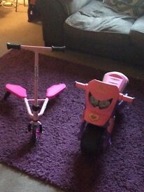 Toddler sporter scooter and ride on moto