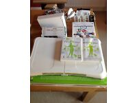 Wii bundle including wifi fit and Mario cart