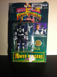 Sealed Mighty Morphin Black Power Ranger Irwin Vintage Toy fig