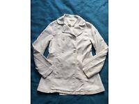 SESSUN White Coat Jacket double breast - Autumn/Winter - soft & warm - RRP £120