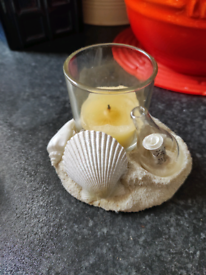 Yankee Candle Votive tea light candle holder Message In a Bottle beach
