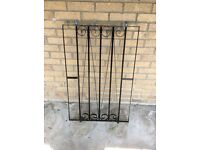 Wrought iron window frame