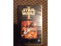 Star Wars the phantom menace vhs video tape classic