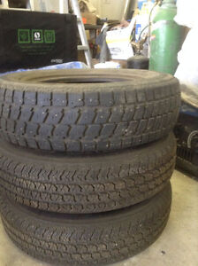 SET OF 3 TIRES, BRAND NEW WITH RIMS
