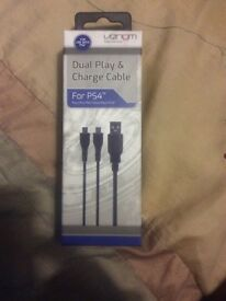 PS4 dual play and charge cable. Brand new unused