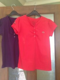 2 Lacoste t shirts