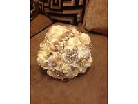 Vintage inspired gold wedding bouquet