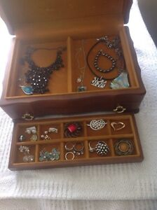 Jewellery box with lots of costume jewellery