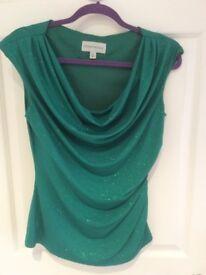 Brand New Designer green sparkly top