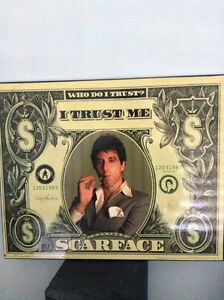 RARE wood collectible scarface poster Kitchener / Waterloo Kitchener Area image 1