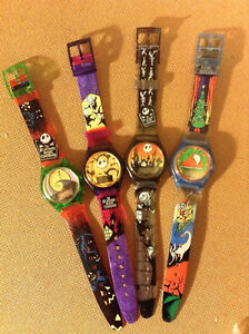 6 TOTAL - NIGHTMARE BEFORE CHRISTMAS - WATCHES - 1993