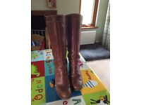 Ecco tan knee high boots