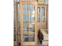 Brand new pine glass door