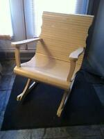 Antique hand made wood rocking chair painted tope good condition
