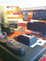 Newly renovated, fully furnished 'ski chalet' condo for rent