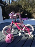 "Girls 14"" princess bike"