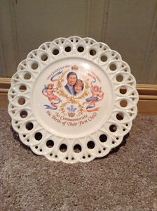 Royal baby plate- Charles & Diana commemorating first born