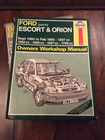 Ford escort/Orion 1990 to 1995 petrol