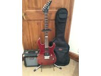 Shine guitar, amp and case