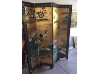 Wooden Chinese screen