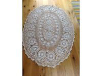Table cloth, lace, Spanish, white