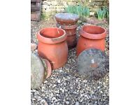 Three chimney pots